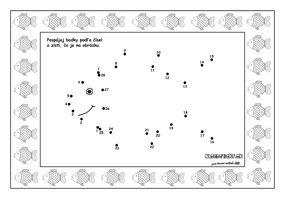 Vianoce - spájame bodky podľa čísel - kapor