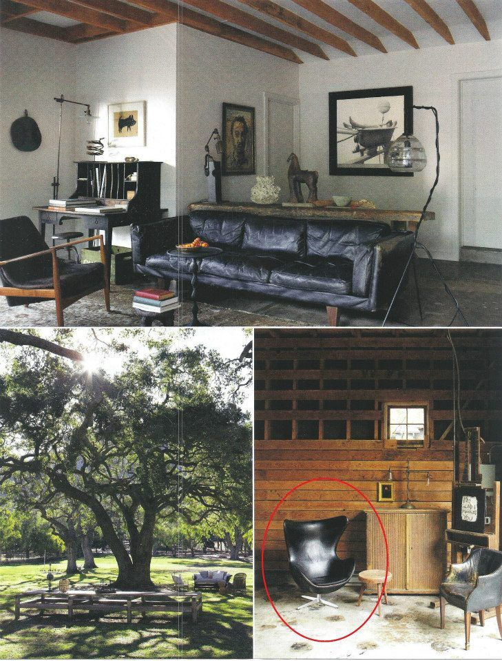 Elle decor regina andrew leather egg chair in magazines for Interior design elle decoration