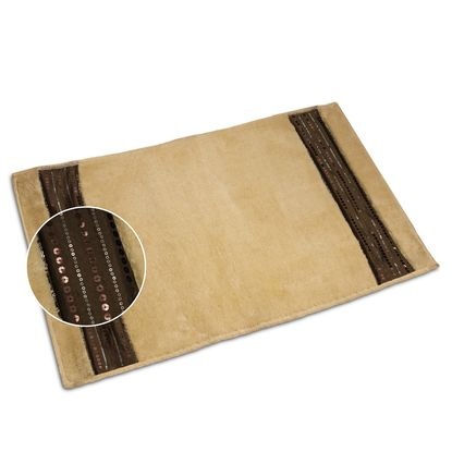Ibiza Plush Cream Bath Mat, Bathroom Rug
