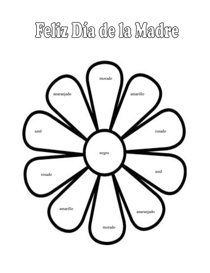 Spanish Colors Spanish Worksheets for W&E Pinterest