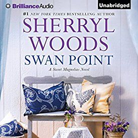 """Another must-listen from my #AudibleApp: """"Swan Point: Sweet Magnolias, Book 11"""" by Sherryl Woods, narrated by Janet Metzger."""