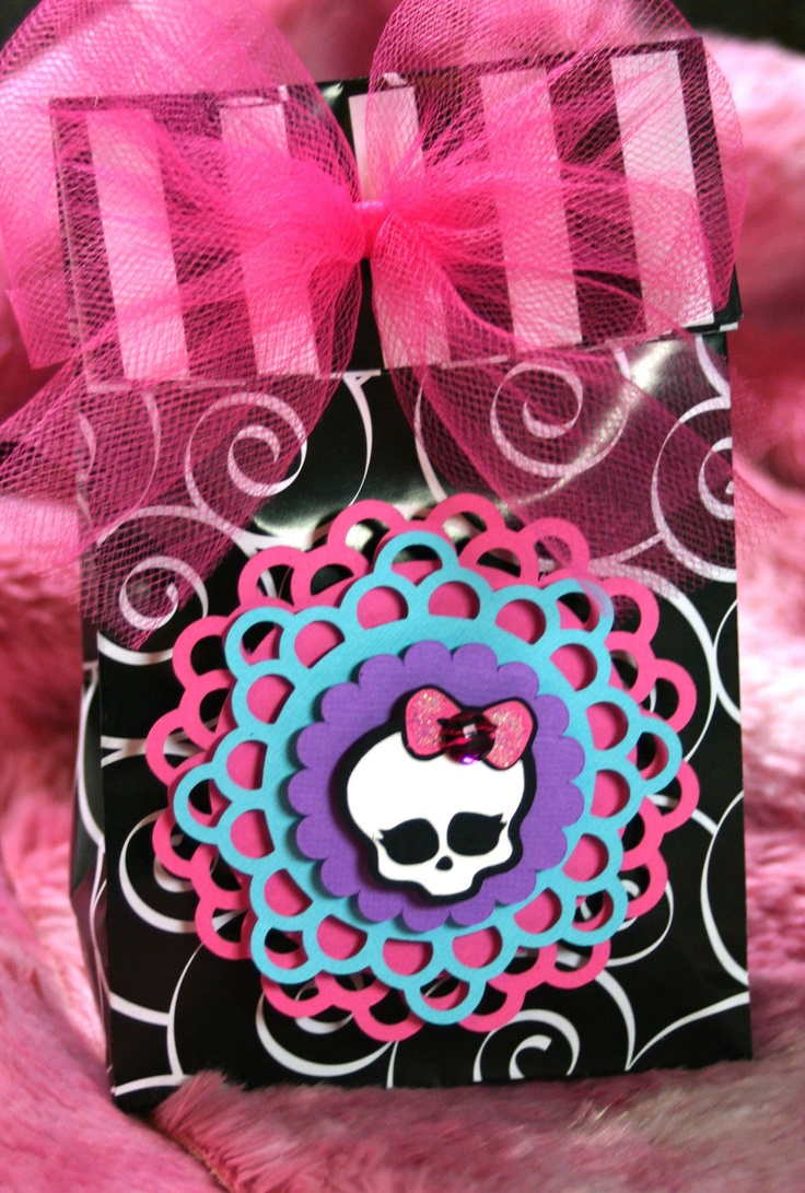 items similar to monster high treat or favor bags birthday decoration skullette birthday girl princess goth halloween skull pirate on