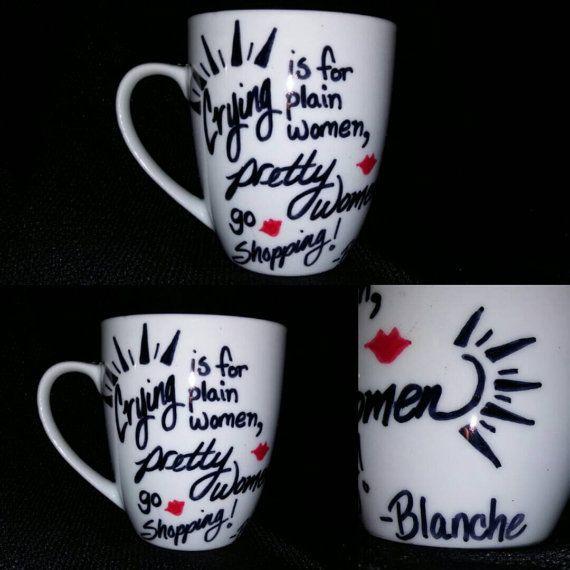 Golden Girls Blanche Devereaux Blanche Quote Coffee by LunaZingara