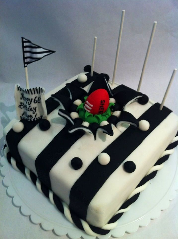 Novelty AFL football cake