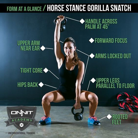 Form at a Glance: Horse Stance Gorilla Snatch | Onnit Academy