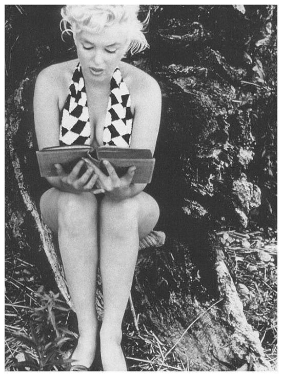 M reading by Eve Arnold.: Things Marilyn, Eve Arnold, Marilyn Monroe, Marilyn Reading, Long Islands, Monroe Reading, Marylin Monroe, Rare Photo, Monroe Marilyn