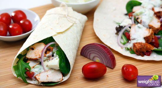 Tandoori Chicken Wraps Recipe - weightloss.com.au