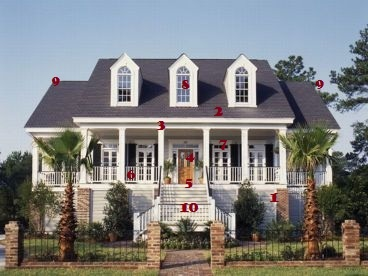French colonial front porch split level boards for French colonial house plans