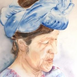 vente aquarelle Femme de San Catarina Palopo
