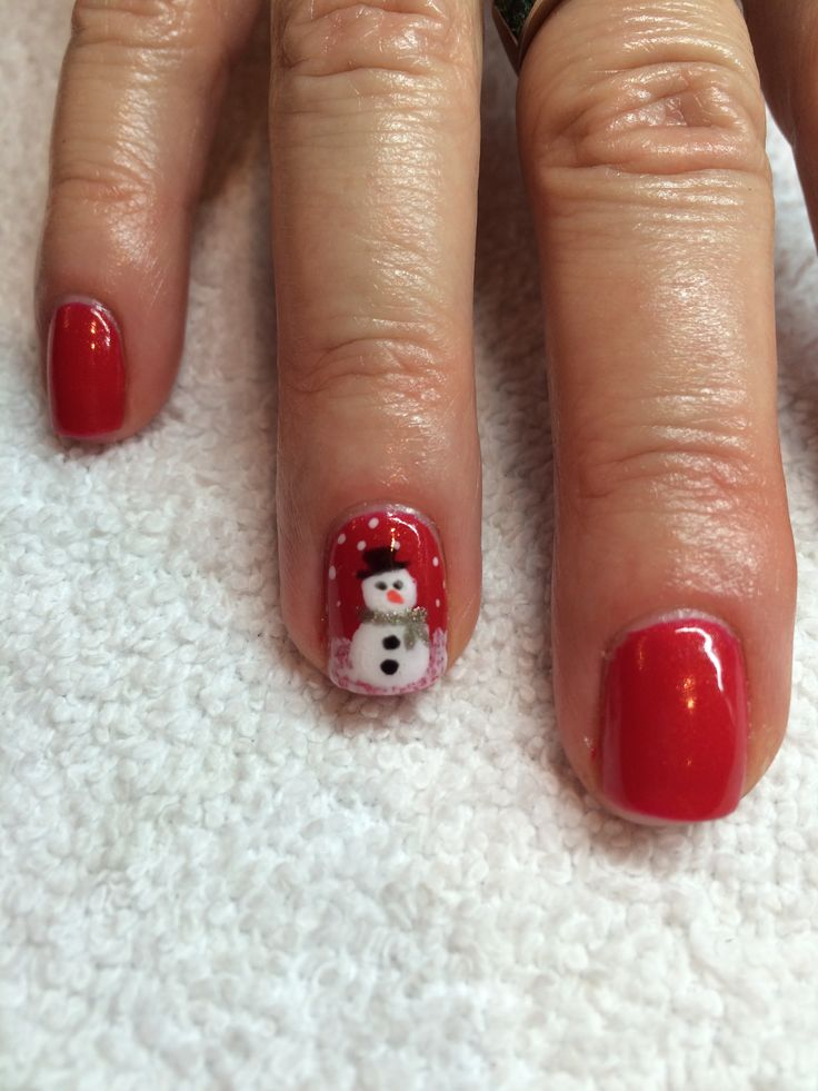 Christmas Nail Art done by Jayme