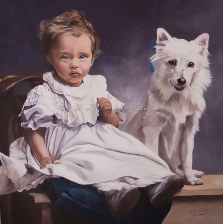 'Dorothy' oil on canvas 2015 (painted from a 100 year old family photo) copyright Mia Laing 2014 mymiasart.com