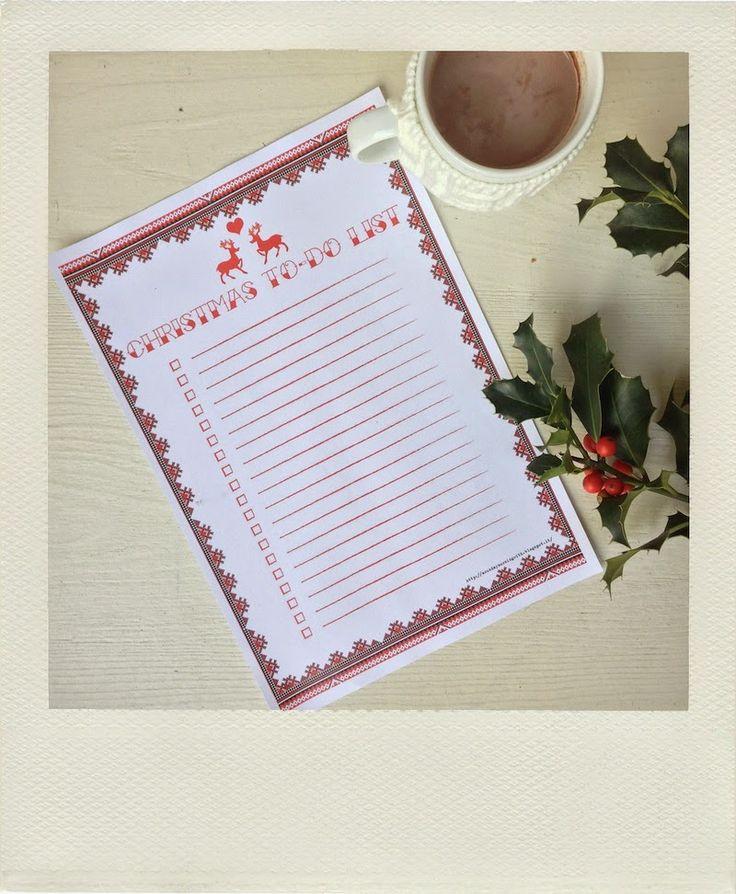 A Sunday morning with: Christmas printable: to-do list e bucket list