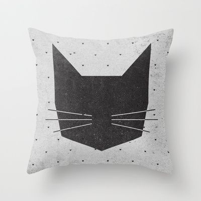 MEOW Throw Pillow by Wesley Bird - $20.00