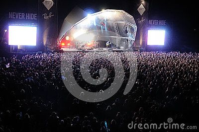 Deerhunter band performs at Heineken Primavera Sound 2013 Festival Editorial Photography