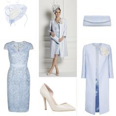 Looking for some Mother of the Bride or Groom outfit inspiration? This beautiful sky blue outfit by Jacques Vert is quite the head turner. Check it out now.