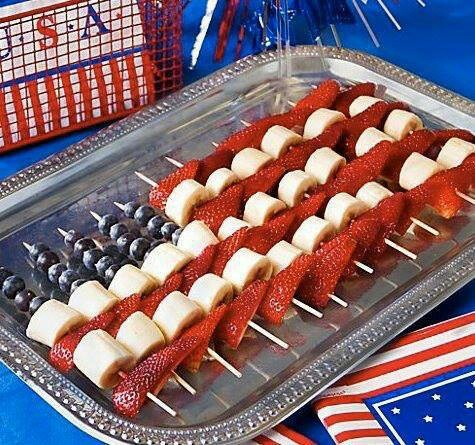 Yummy (and healthy) snacks for the fourth! #happyfourth