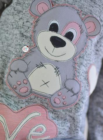 """Applikationsvorlage """"Elchi/Bärli"""" - Tilu Design - Applizieren leicht gemacht - Bär & Elch - Weihnachten - Winter - Applikation kombiniert mit dem Monatsknaller Ringel-Jersey """"White Stripes"""" & Strick-Sweat """"Moonie"""", sowie Jersey """"Basic Love"""" - Shirt - Pulli - Nähen - eBook & Stoff - Glückpunkt."""