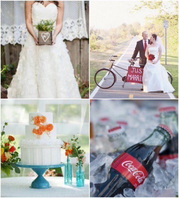 Blue, Red & Cream Wedding Color Inspiration - Rustic Wedding Chic