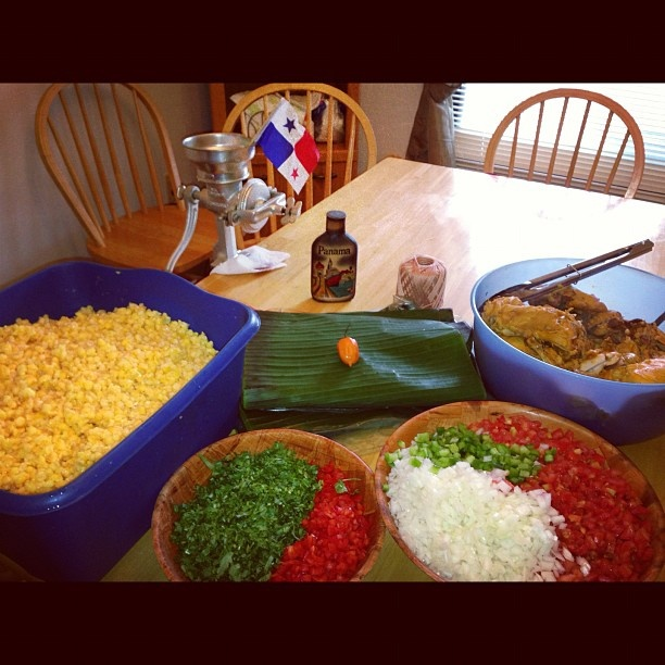 Panamanian Tamales. All the ingredients. La pachita is extra!