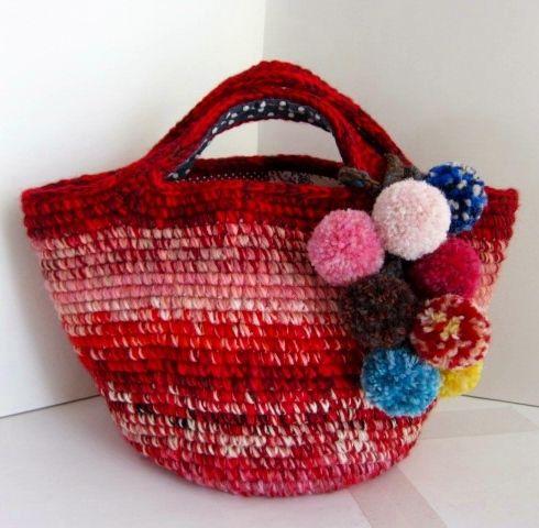 crochet wool bag