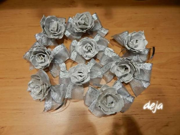 Papierové ruže s krabíc od vajíčok. Recyklujeme o dušu:) Autorka: deja. Artmama.sk
