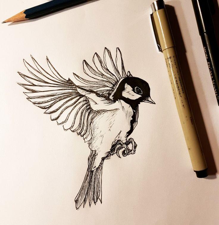 Sunday morning bird sketch. #bird #feathers #wings #sunday #drawing #srt #sketch #sketchbook #winnipeg #winnipegartist #winnipegart