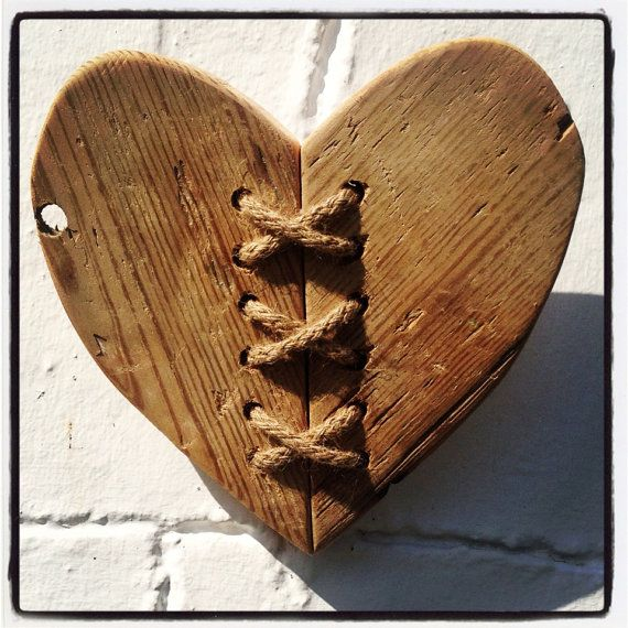 Driftwood & Twine Heart Wall Hanging via Etsy