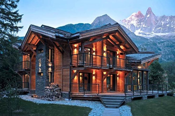 Chalet-style house in the mountains