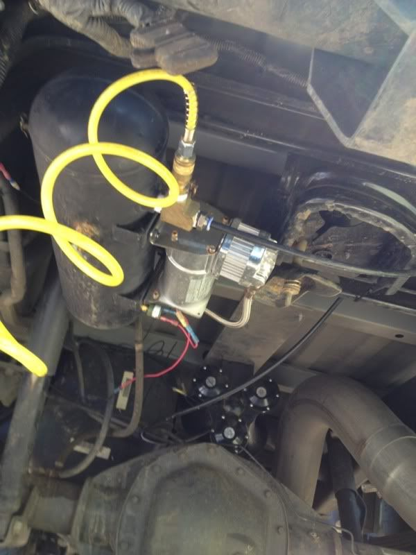 air compressor and train horns install with pics!!! - dodge cummins diesel  forum