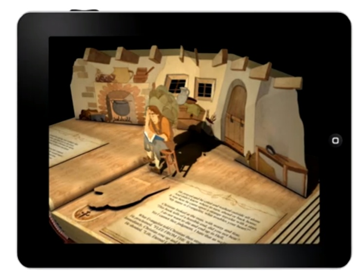 Theme: Realism/Reality. Digital Pop-up Book (iPad app). Taking something mundane and making it more fun/interactive to learn. Engaging because it prompts you to read.
