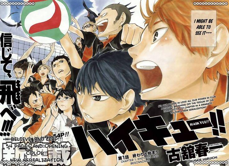 Karasuno High Volleyball team Haikyuu!! Haikyuu, Manga