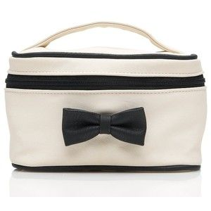 White Colour PVC Cosmetic Bag with Bowtie