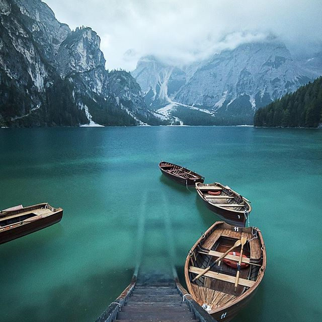 """""""This is a shot I've taken during one of my trips in Trentino, #Italy this autumn. I went to Braies Lake and it was raining, the light was low so I used a tripod combined with a low aperture in order to have enough depth of field. I also used a polarizing filter in order to show the bottom of the #lake."""" #MyCanonStory  Photo Credit: @amedeo.gamber_ph  Camera: Canon EOS 7D Mark II Lens: #Canon EF-S 10-22mm f/3.5-4.5 USM Aperture: f/8 ISO: 800 Shutter Speed: 1/25 sec Focal Length: 11mm"""