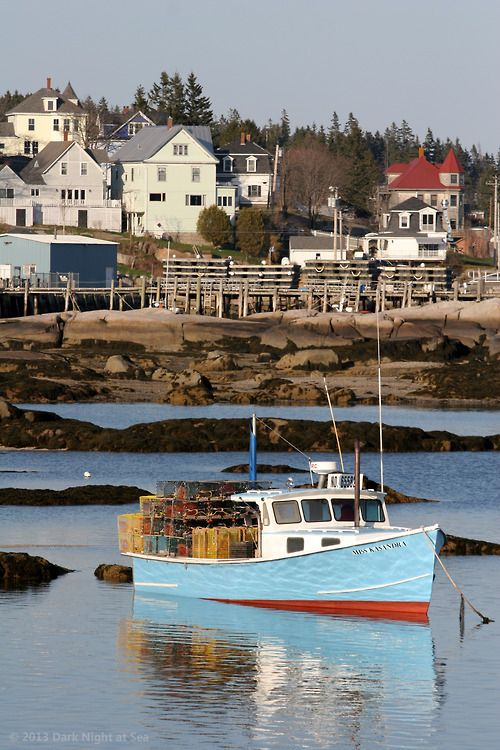 Lobster boat. Stonington, Maine. Have been in this harbor several times. A friend of ours has an island not far from here. Great to see it again.