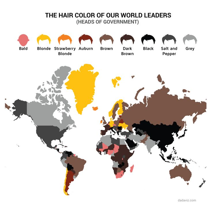 The Hair Color Of Our Leaders Data Visualisation By JodySieradzki - Map of redheads in the us