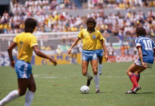 21 Jun 1986, Guadalaraja, Mexico Socrates + Michel Platini