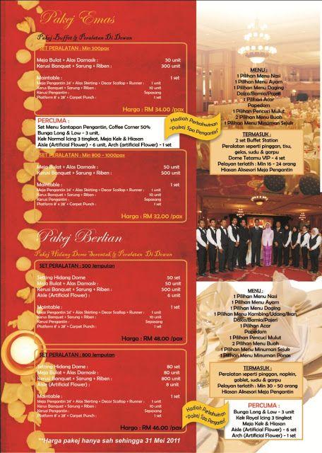 SURI CATERING & EVENT SERVICES SDN BHD: Pakej Perkahwinan