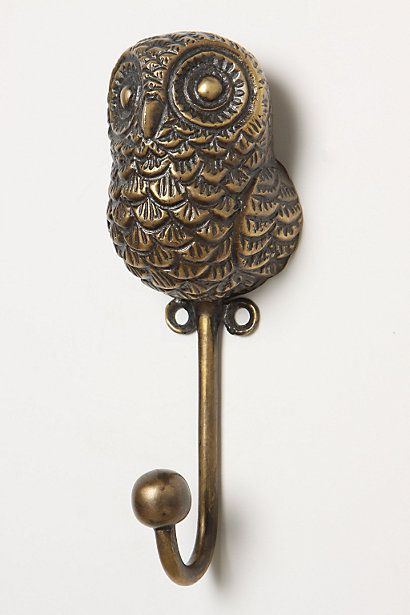 kakaw: Wall Hooks, Creature Kingdom, Ideas, Anthropologie Com, Owl Obsession, Kingdom Hook, Owl Hook, Owls