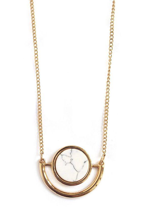 Minimalist Howlite Marble Necklace