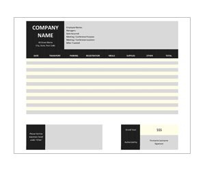 Meeting Expense Report: Get this free, printable, customizable template from YourTemplateFinder.com