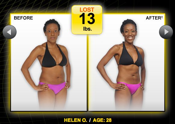 Focus T25 workout results.