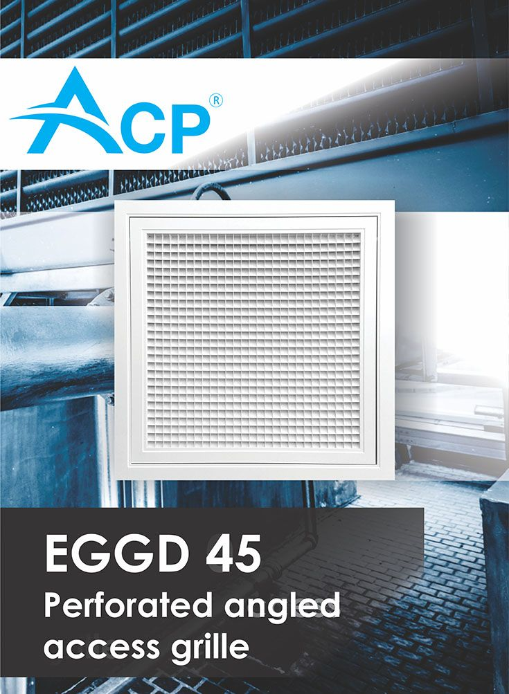 Perforated angled access grille ( Grila perforata inclinata cu acces )  | #hvac | #acp | #manufacturer | #ventilation | #products | #romania