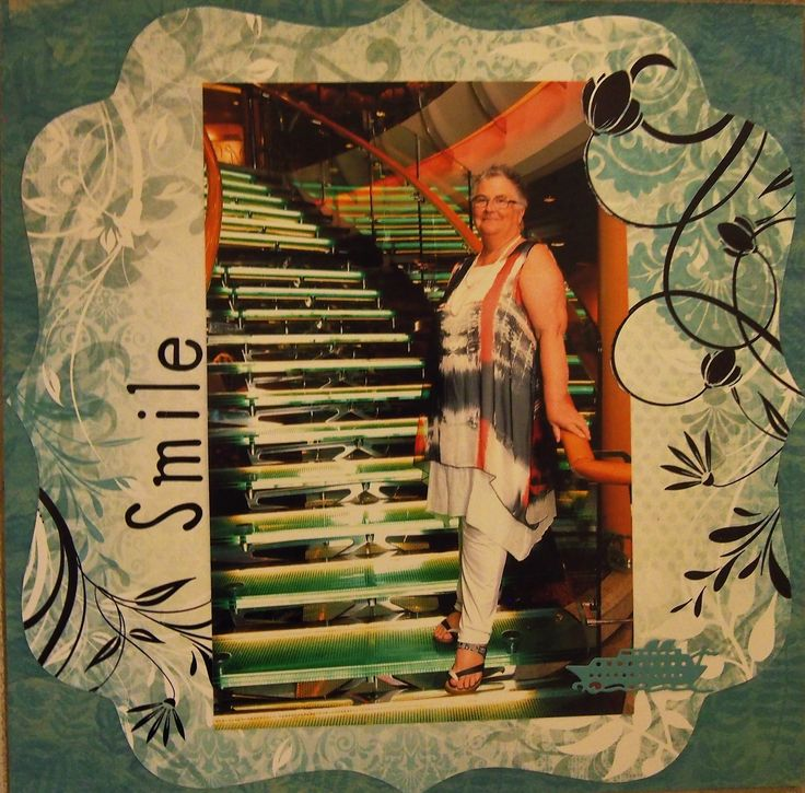 Created for a challenge at Soul Scrappers. Formal night onboard Radiance of Seas January, 2018.   Kaisercraft papers.