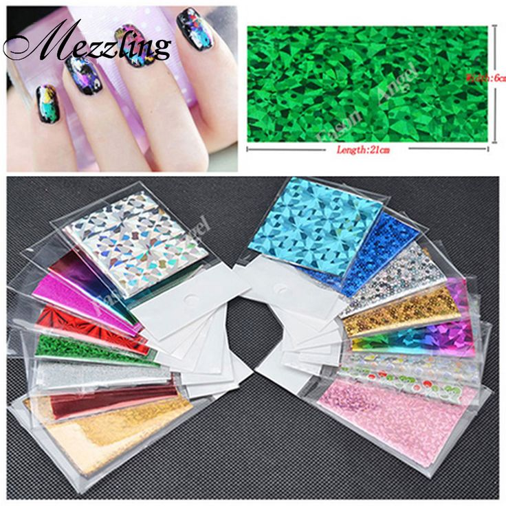 50Designs 20pcs Symphony Nail Foil Sticker Star Style Art Polish Transfer Decal DIY Beauty Craft Nail Decorations Supplies