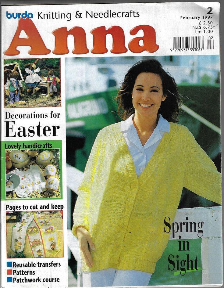 Anna Burda Needlework & Crafts magazine February 1997 knitting embroidery Easter #AnnaBurda