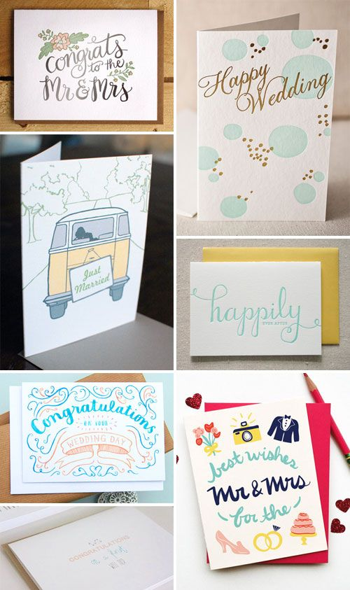 Wedding Congratulations Cards as seen on papercrave.com