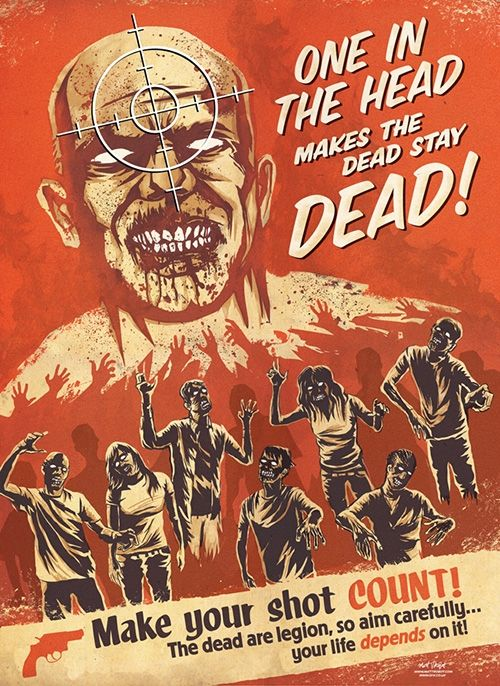 Zombie killing instructions!: Zombies Apocalyp, Google Image, Zombies Posters, Propaganda Posters, Zombies Propaganda, Walks Dead, Double Taps, Head Shots, Stay Dead