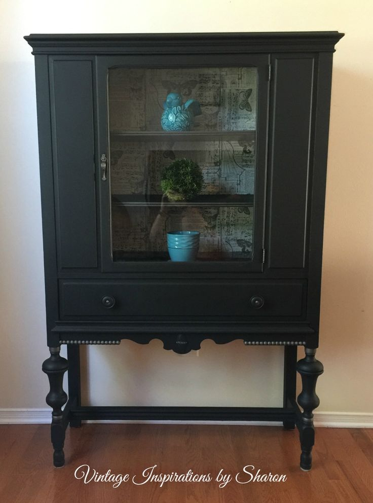 Painted in PIY Funriture Paint Midnight Coal and highlighted with PIY Metallic Smoke.