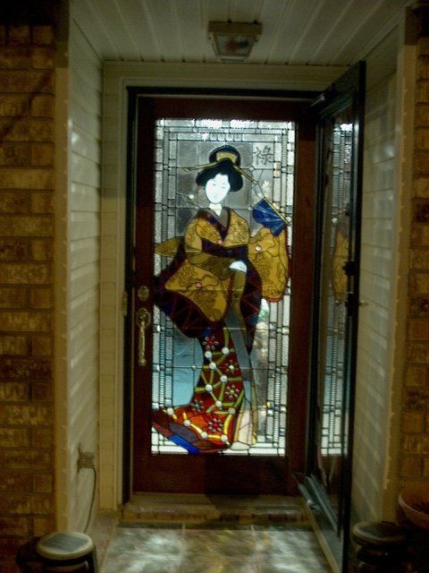 Handmade Stained Glass Door Panel - Residence by Cathedral Stained Glass Studios, Inc.   CustomMade.com