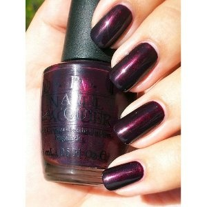 I dont usually buy nail polishes on line but I trust OPI and am not disappointed with my recent purchase. The color Black Cherry Chutney rocks. It is a dark, lush color with a hint of cherry which looks awesome on the toes.
